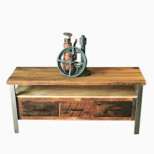 Media Console Tables by Buy Hand Made Reclaimed Wood Media Console With Steel Legs Made