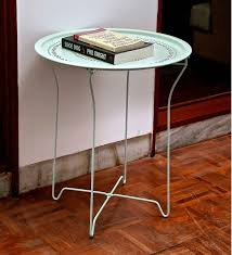 buy juniper foldable balcony table in teak oil finish by