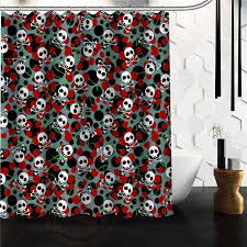 Skull Bathroom Accessories by Online Get Cheap Skull Shower Curtain Aliexpress Com Alibaba Group
