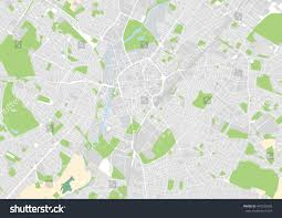Leicester England Map by Vector City Map Leicester United Kingdom Stock Vector 492533560