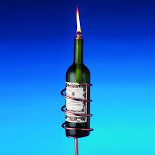 copper wine bottle tiki torch kit the green head