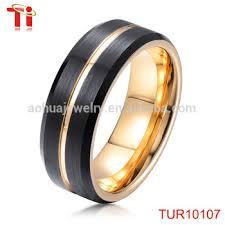 wedding ring saudi gold saudi arabia gold and black tungsten wedding band ring gold ring