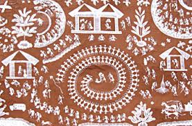 types of indian tribal paintings include wall painting objects for