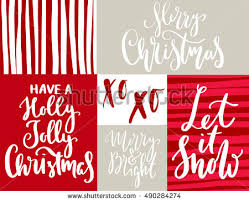 christmas quotes sayings postcards poster banner stock vector