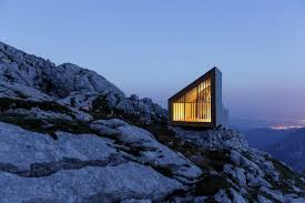 mountain cabin in the slovenian alps