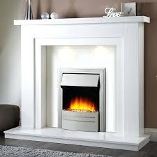 chateau corner electric fireplace white media console stone