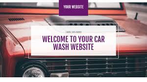 car wash website templates godaddy
