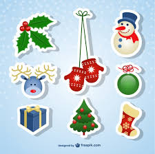 christmas stickers christmas stickers vector free