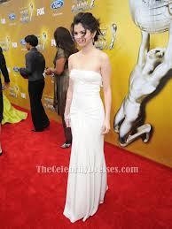 Red Carpet Gowns Sale by Selena Gomez White Strapless Prom Evening Dress 41st Naacp Image