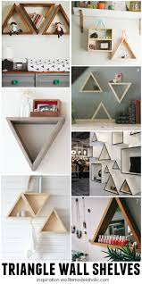 wall shelf designs remodelaholic diy geometric display shelves