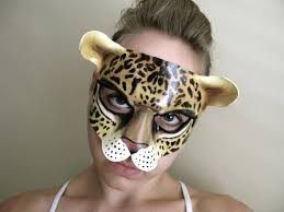 cheetah halloween costumes leopard or cheetah leather mask child or sizes cat
