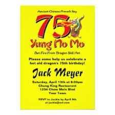 funny 75th birthday invitations u0026 announcements zazzle