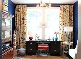 Home Office Curtains Ideas Collections Of Decorated Office Free Home Designs Photos Ideas