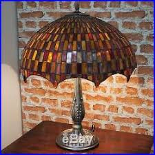 new large 18diameter tiffany stained glass table lamp moroccan