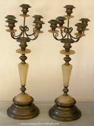 Candelabra Home Decor This Item Is Now Sold A Pair Of Antique French Brass U0026 Onyx 5
