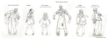 fun with zombies sketch dump by k koji on deviantart