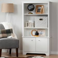 Bookcase With Doors White by South Shore Vito 3 Shelf Bookcase With Doors Pure White Home