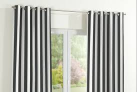 Black And White Stripe Curtains Brown Striped Eyelet Curtains Functionalities Net