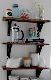 shelving ideas for kitchen best 25 diy kitchen shelves ideas on floating shelves