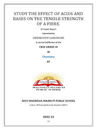 affect of acid and alkaline on tensile stength of fibers