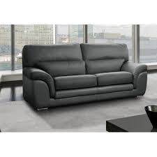 canap cuir gris clair canapé fixe confortable design au meilleur prix cloe canapé 3