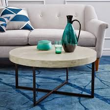west elm round coffee table round coffee tables shine your light for awesome home colors
