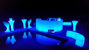 led illuminated bar cube sofa poseur table furniture event