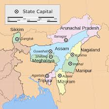 Map Of India States by File Northeast India States Svg Wikipedia