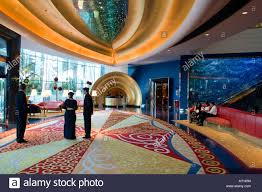 burj al arab inside burj al arab hotel the reception area dubai united arab emirates
