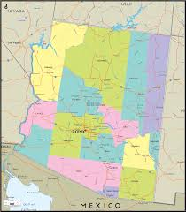 detailed political map of arizona and arizona details map