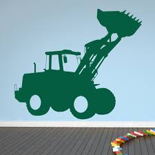 digger tractor industrial machines wall stickers construction digger tractor industrial machines wall stickers construction decor art decal