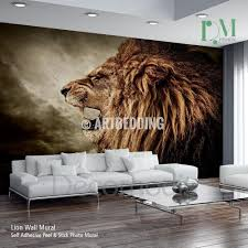 wall murals peel and stick vinyl self adhesive tagged lion wall mural wild lion e self adhesive peel stick photo mural african lion wallpaper