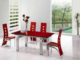 chic red dining room table simple dining room remodel ideas home