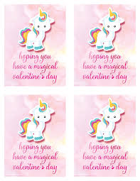free printable unicorn valentine u0027s day card