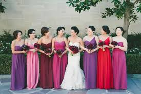 pink colour combination dresses beautiful and bright pruple orchid pink bridesmaid dresses color