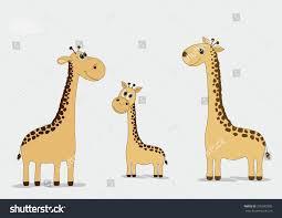 family cartoon giraffes on blue background stock vector 295992905