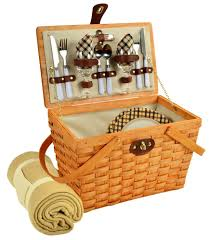 picnic basket set for 2 picnic baskets