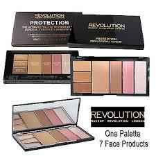 usa makeup revolution protection palette blush bronze highlight conceal med dark