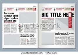 graphical design tabloid newspaper template creative stock vector
