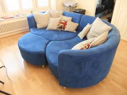 inspirational creative design round shape sectional blue vinyl