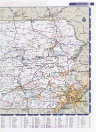 Road Map Of Pennsylvania by Highway Histories