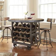 Kitchen Bar Table With Storage Industrial Wine Storage Pub Table So That U0027s Cool