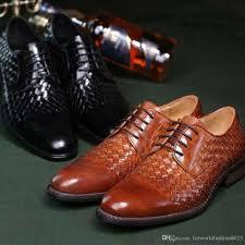 Wedding Shoes Luxury 2016 Braided Men Shoes Luxury Brand Genuine Leather Weave Men