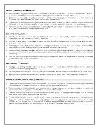 Military Police Job Description Resume by Resume Colonel Bana
