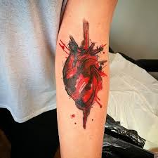 25 gorgeous red heart tattoos ideas on pinterest heart tat