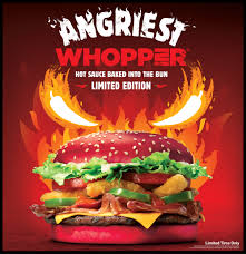 halloween whopper burger king new angriest whopper sandwich with red bun debuts at burger king