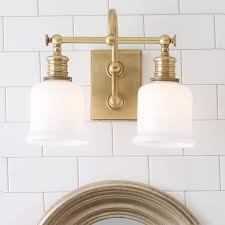 Brass Bathroom Lighting Fixtures by Well Appointed Bath Light 2 Light Shades Of Light