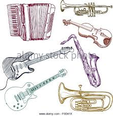 musical instruments stock vector images alamy