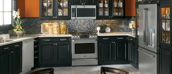 black kitchen appliance bundles iredescent white glass mosaic