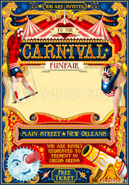 clown show for birthday party circus juggler show retro template poster invite kids